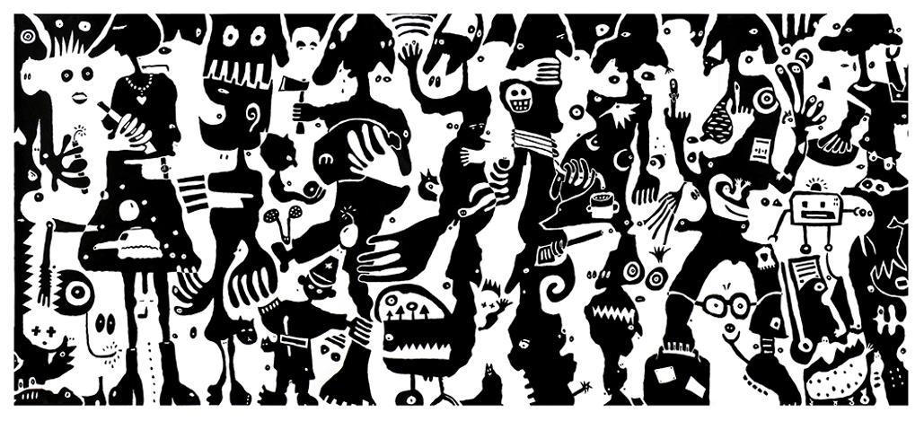 weiss auf weiss, schwarz auf weiss ‹ ana laibach, Innenarchitektur